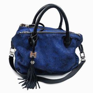 Aimee Kestenberg Blue Leather Crossbody Tote